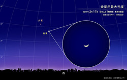 金星が最大光度
