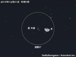 12月31日 月と木星が大接近