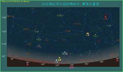 水星と金星が斜めに並ぶ 2016年2月13日