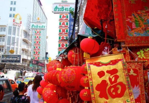バンコクのチャイナタウン(2017年の中国正月)