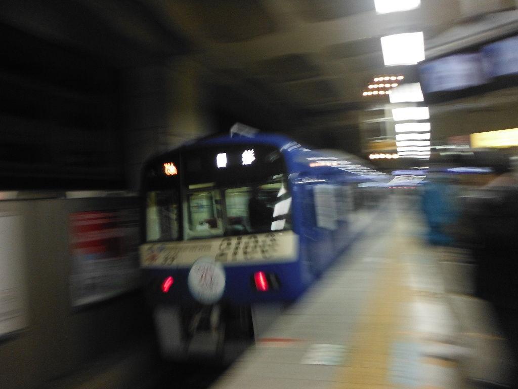夜の京蒲で撮影…