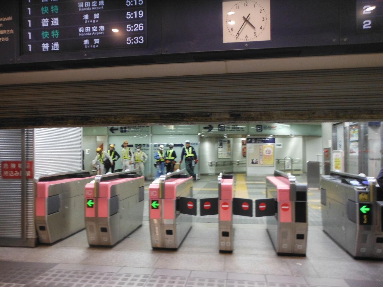 2017/04/29 京急品川の新しい乗車位置を撮る! その1