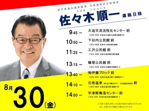 令和元年岩手県議会議員選挙 遊説の記録