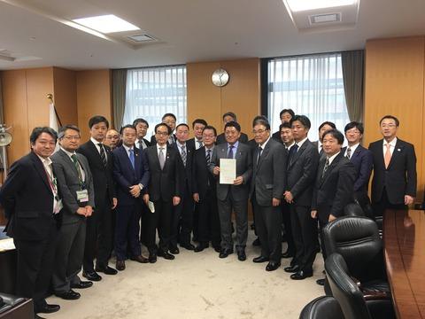 共同議連、北海道・東北知事会とともにILC誘致を要望