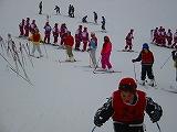 牛岳温泉スキー場でスキー学習