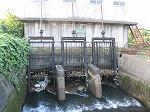 山田川サイフォンの取水口