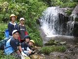 牛岳三段の滝にて