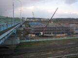 新富山大橋の工事現場