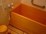 内風呂は檜風呂