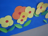 卒業式の壁面環境5(花)