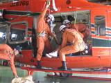 防災ヘリ搭載訓練