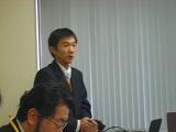 発表中の田中さん