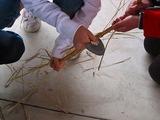 石包丁を使う