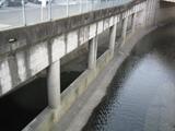 洪水対策の取水口