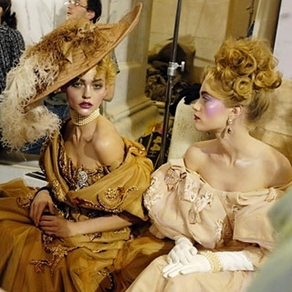 Christian Dior F/W Haute Couture 2007 - backstage