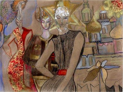 Sasha Pivovarova Art for CHANEL Paris Moscou