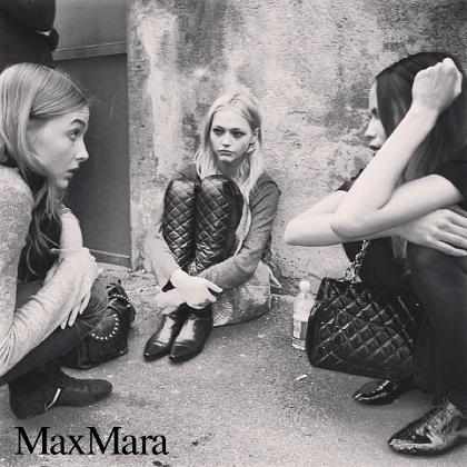 Max Mara F/W 2007 - backstage / street