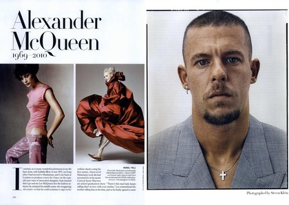 Alexander McQueen 1969-2010 - Vogue US April 2010