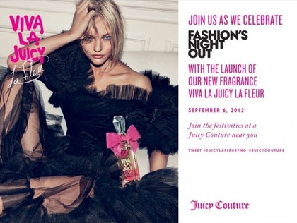join us at JUICY COUTURE to celebrate FNO 2012