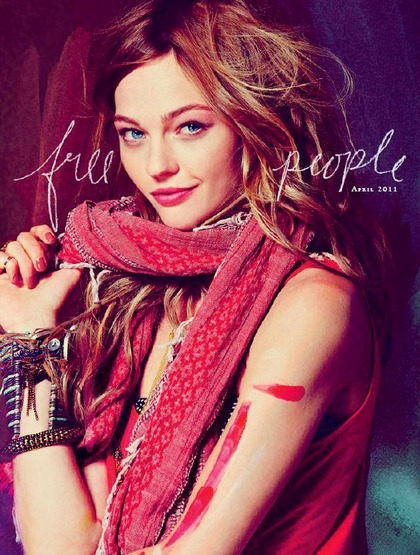 Pivovarova - free people April 2011