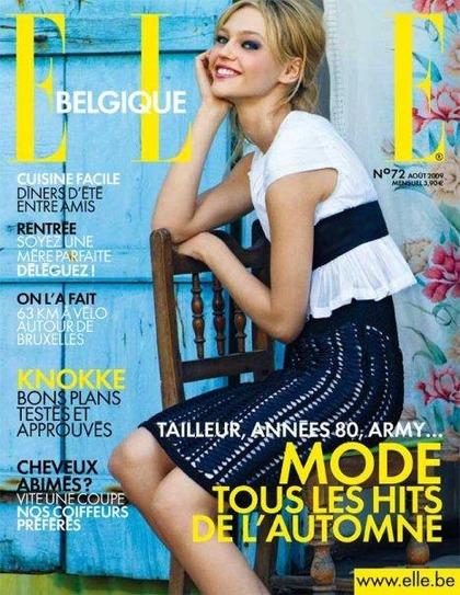 ELLE Belgique - cover August 2009 issue
