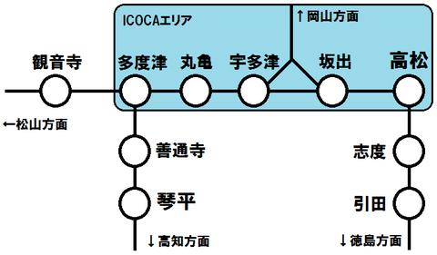 香川県のICOCAエリア