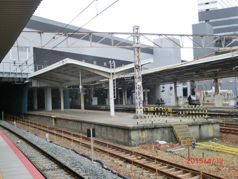 新大阪駅 旧13・14番のりば改装工事(2015年4月) 【Part2】
