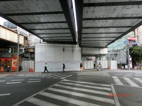 鴫野駅 新ホーム設置工事(2014年10月) 【駅周辺編】
