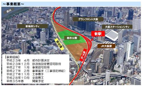 北梅田駅(仮称)の建設工事がついに着工!2023年春の開業を目指す!