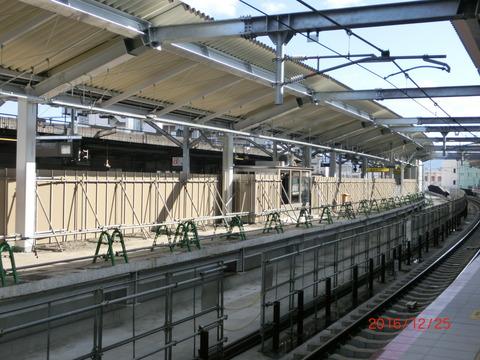鴫野駅 2番のりば改装工事(2016年12月) 【Part2】