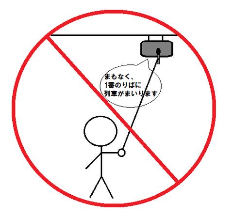 密着録音禁止のお知らせ