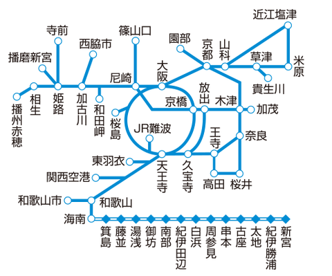 ICOCA近畿圏エリア