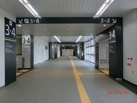 JR尼崎駅の 「のりかえ専用通路」 が使用開始!!!【通路編】