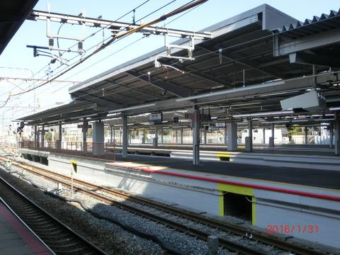 新大阪駅の新11・12番のりば、使用開始前日の様子(2016年1月31日) 【Part1】