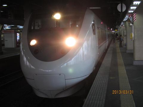 金沢駅で 特急 「はくたか」 「北越」 &七尾線の普通列車を撮る (2013年3月)