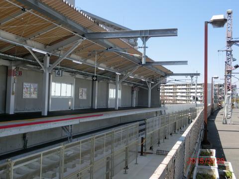 鴫野駅 新ホーム使用開始前日の様子(2015年3月28日) 【Part2】