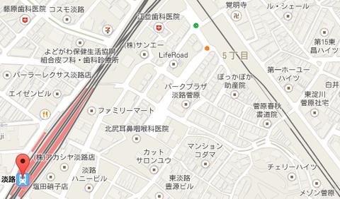 JR淡路駅周辺地図