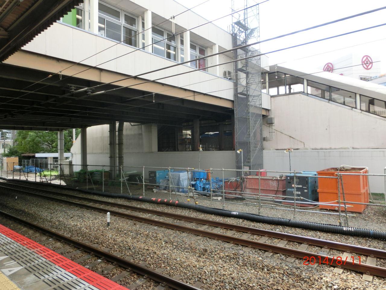 高槻駅 ホーム増設工事(2014年8 ...