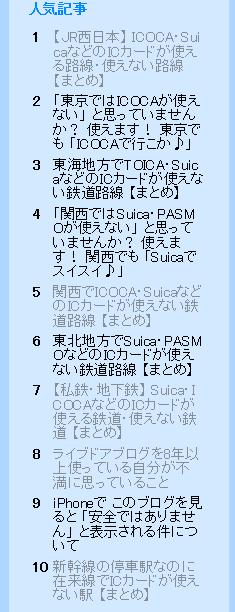 ライブドア 人気記事(PC)