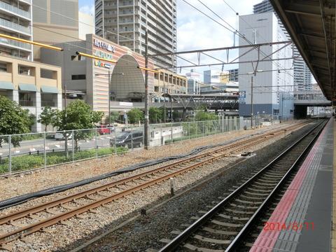 自転車の 自転車 撤去 京都 : 高槻駅 ホーム増設工事(2014年8 ...