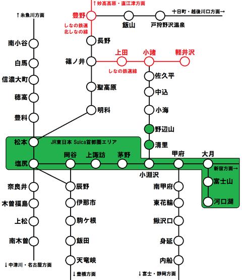 長野県・山梨県でSuicaなどのICカードが使えない鉄道路線 【まとめ】
