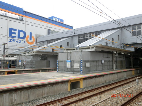 JR尼崎駅 駅舎増築工事(2014年6月) 「のりかえ専用通路」使用開始1週間前の様子