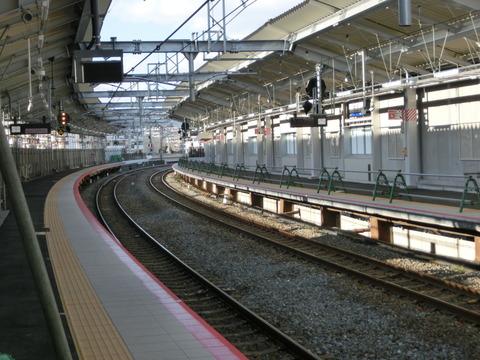 鴫野駅 1番のりば改装工事(2019年1月14日)