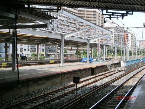 新大阪駅 旧13・14番のりば改装工事(2015年8月) 【Part2】