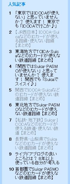 ライブドアブログ 人気記事 6月13日