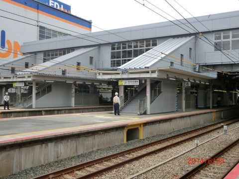 JR尼崎駅の 「のりかえ専用通路」 が使用開始!!!【ホーム編】