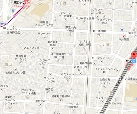 JR野江駅 地図