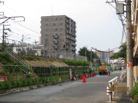 おおさか東線 JR野江駅 建設工事(2013年8月)