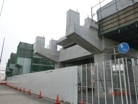 おおさか東線 南吹田駅 建設工事(2014年4月上旬) 【Part1】