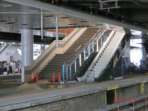 新大阪駅 旧15・16番のりば改装工事(2014年10月) 【Part1】